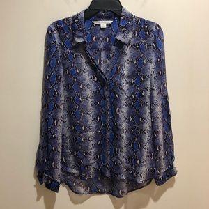 Diane Von Furstenberg DVF Size 2 Silk Top